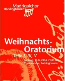 Weihnachtsoratorium (Teile 1, 3, 5) von J. S. Bach