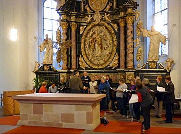 Proben in der Klosterkirche