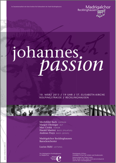 plakat johannespassion 2013